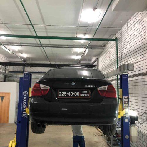Удаление катализатора BMW 325